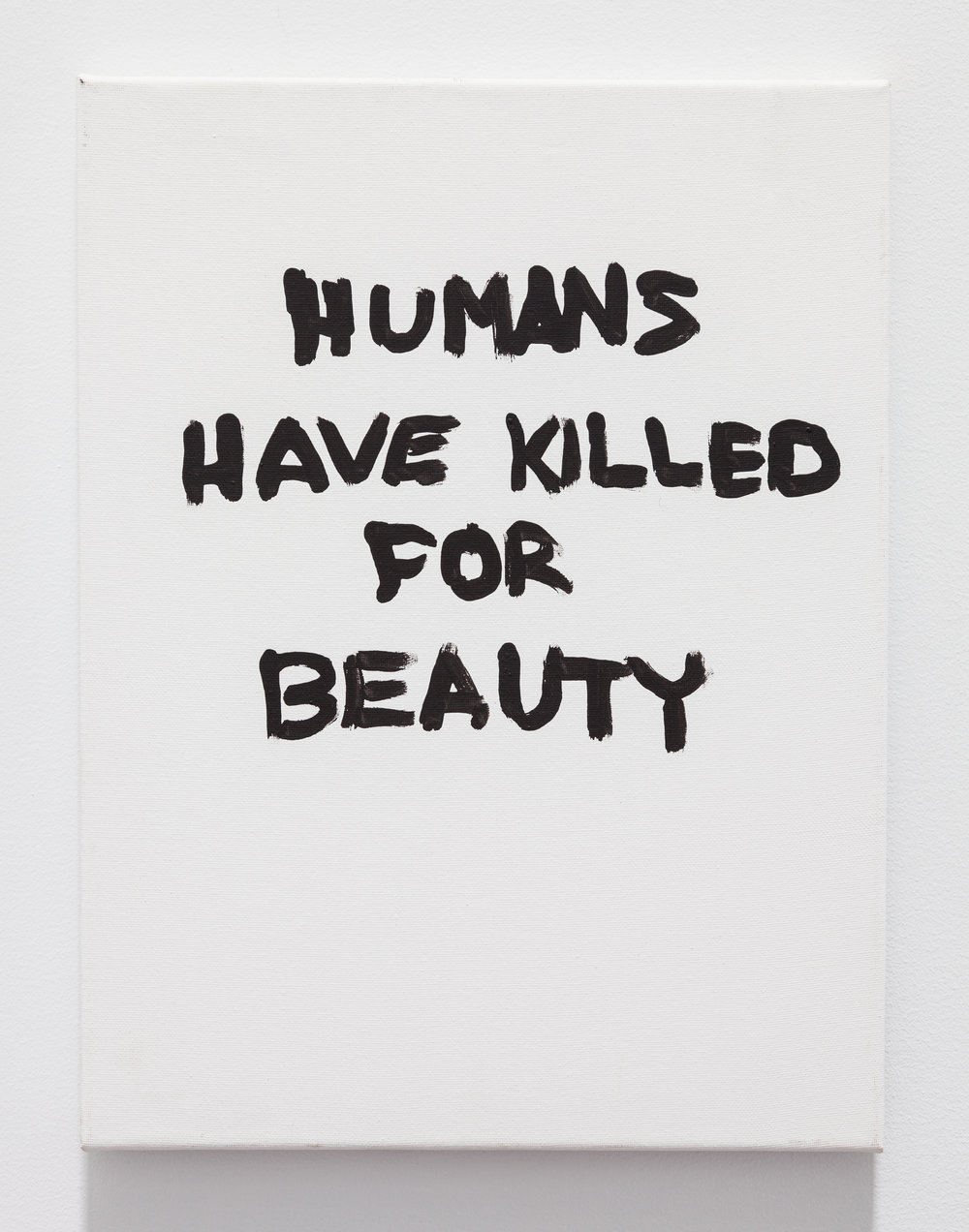 Gene Beery,  Humans Have Killed , 2006, acrylic on canvas, 16 × 12 in
