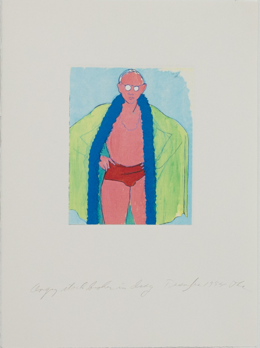Theodore Titolo,  Angry Stock Broker in Drag , 1994, transfer print, 15 x 11 in