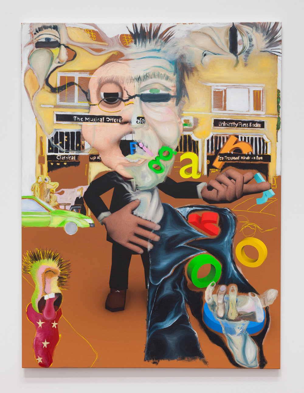 Rafael Delacruz,   Ten Thousand Minds on Fire , 2017, inkjet print and acrylic on canvas, 48 × 36 in