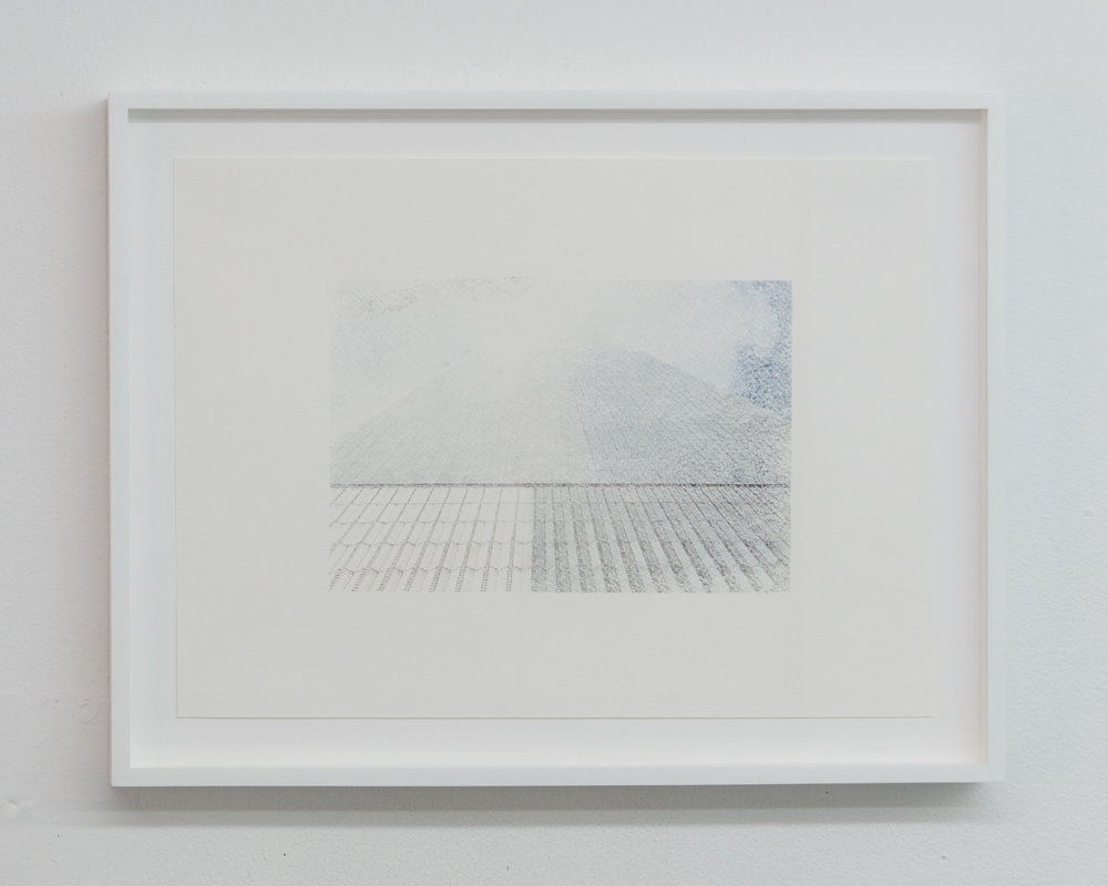 Elizabeth Karp-Evans,    Untitled , 2017, framed color photo transfer on paper, 13 ½ × 17 ½ in