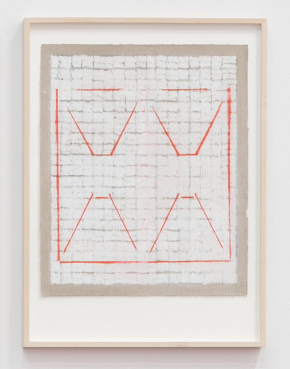 Deborah Hede,    Double Transport , 2009, graphite, pastel and enamel paint on paper, 26 × 19 in