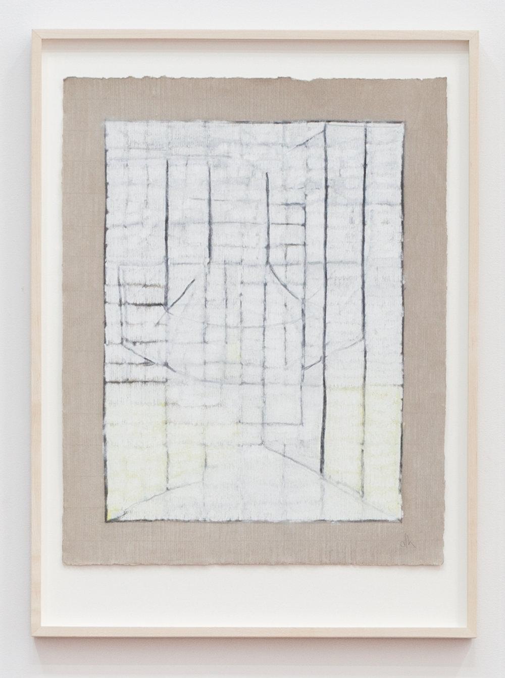 Deborah Hede,    Meridian , 2010, graphite, pastel and enamel paint on paper, 26 × 19 in