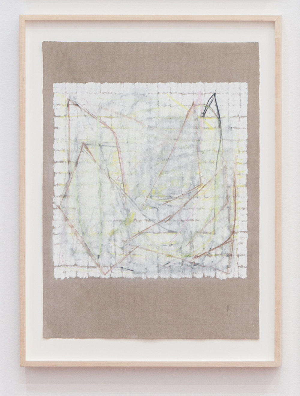 Deborah Hede,  Displaced Geometries , 2008, graphite, charcoal and pastel on paper, 26 × 19 in