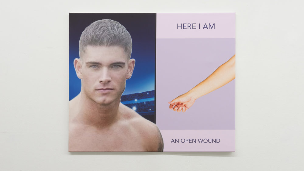 FLAME,  Here I Am - An Open Wound,  2019, fine art print on Sihl Masterclass canvas, 35 ⅜ × 29 ½ inches