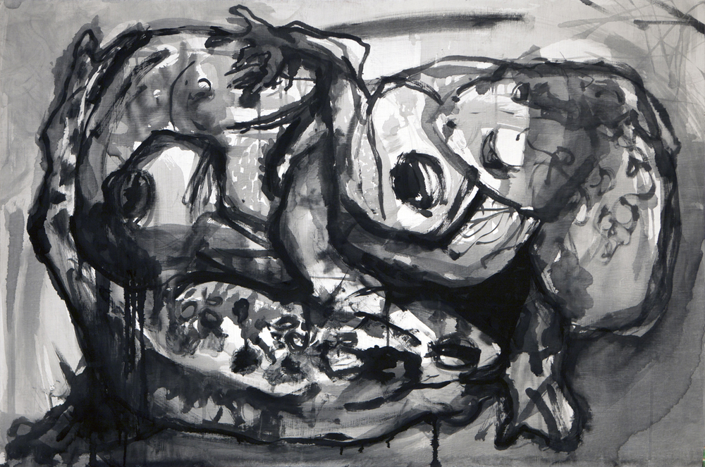 31 x 48 inches, ink on panel, 2011