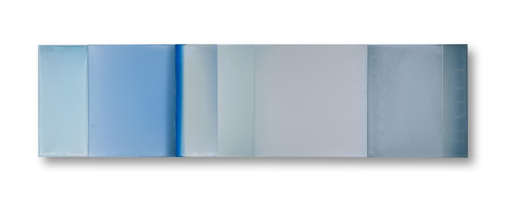 "The middle is everything and everywhere  22""x 67"" polymer on panel 2014"