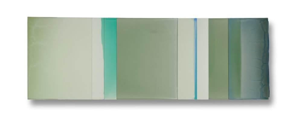 "Interlude  18""x 58"" polymer on panel 2015"