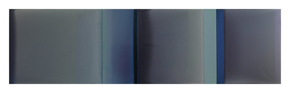 "Two Stories  23"" x 73"" tinted polymer on panel 2018"