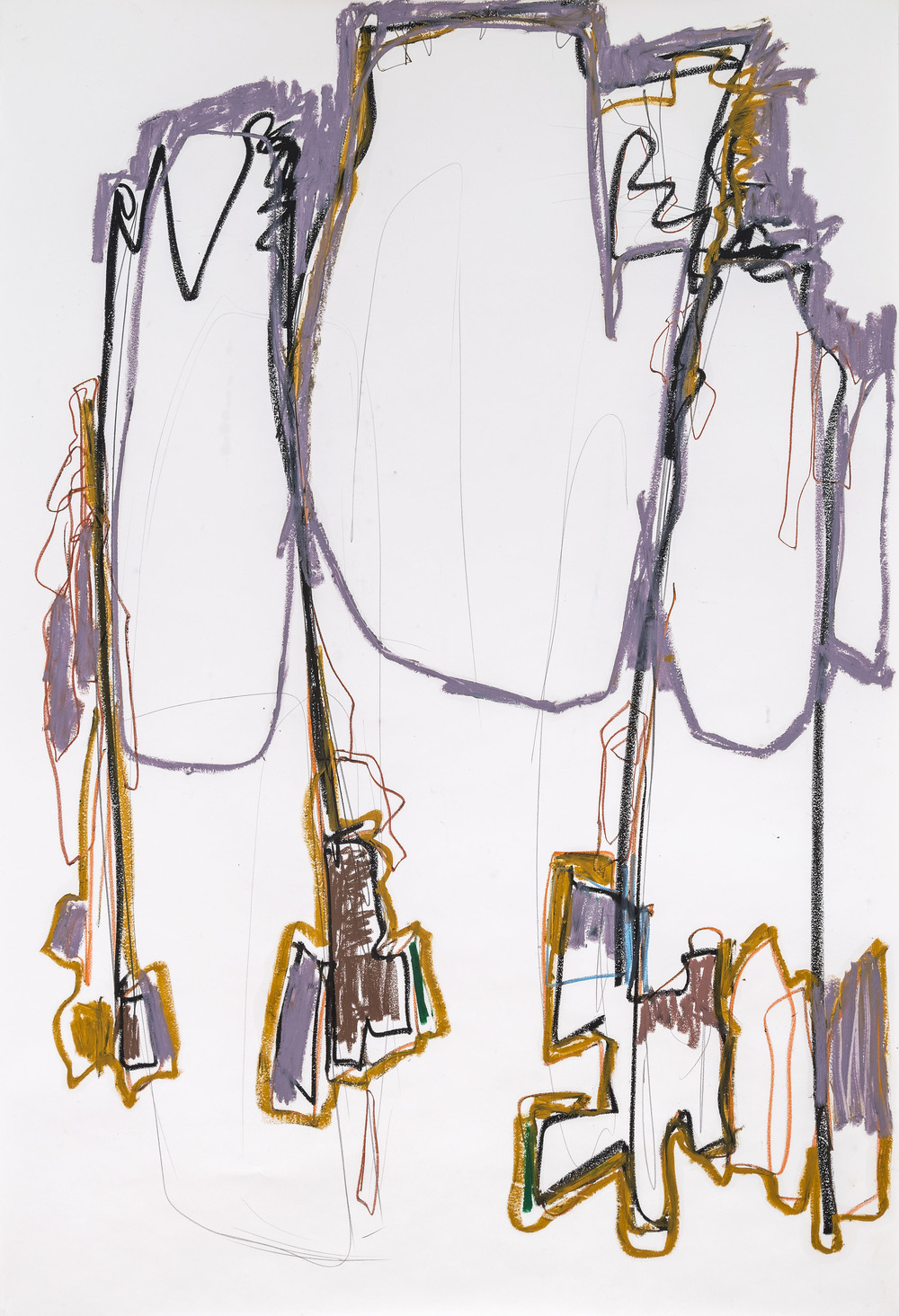 Heavy Lifting   Hook & Eye Project - Mary Prescott, piano  2014  oil stick & charcoal on paper  62x38""