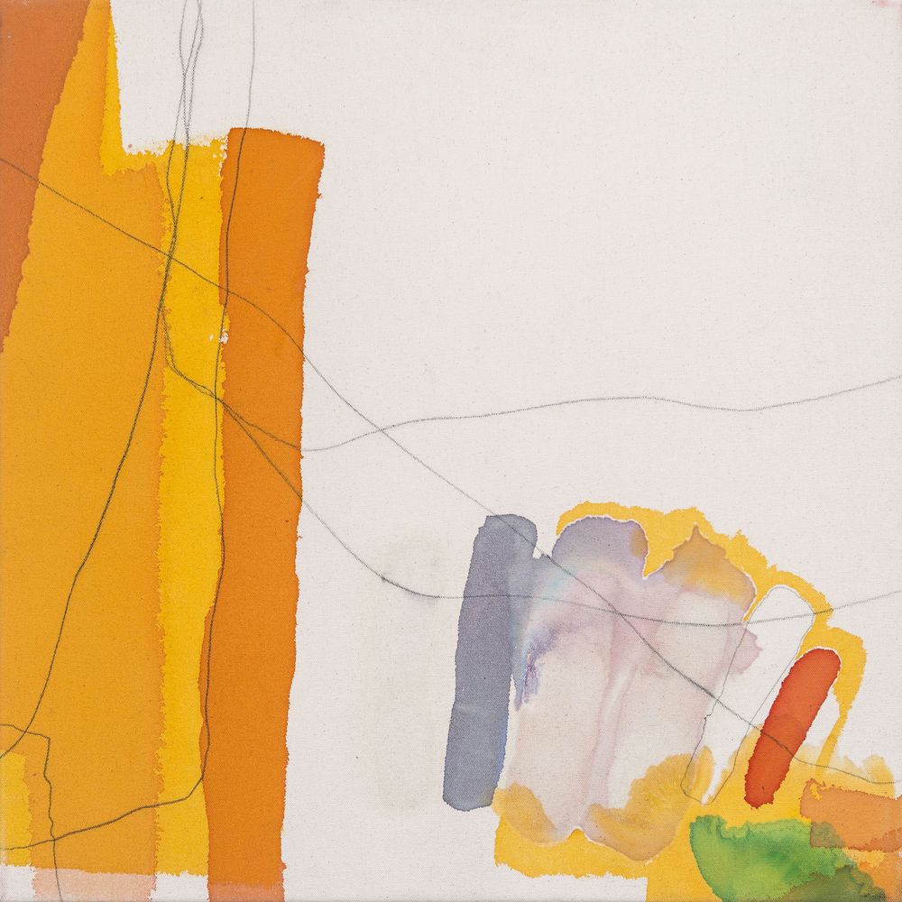 Untitled (Beautiful Tension),  2011  acrylic and pencil on canvas  20x20""