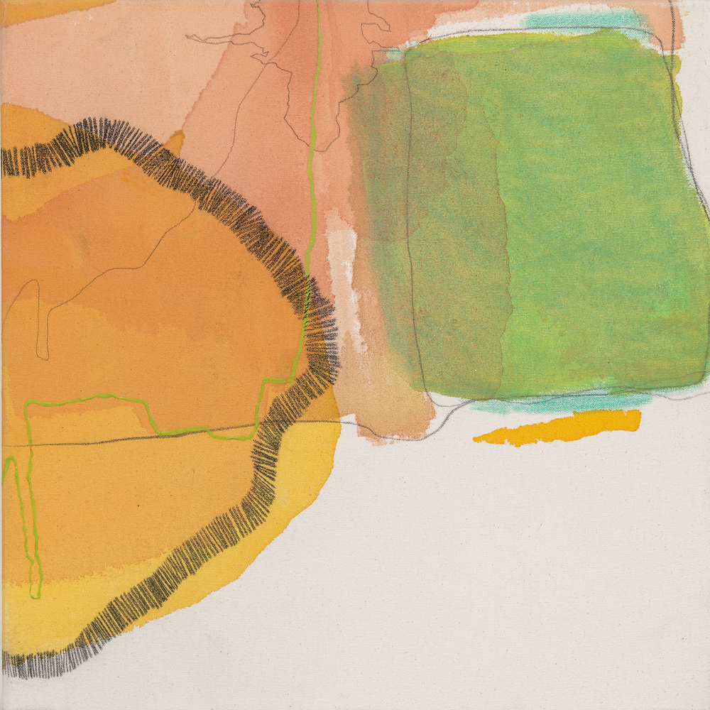 Port Call No. 2,  2011  acrylic, charcoal and pencil on canvas  20x20""