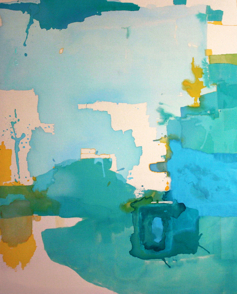 Glacial Noise,  2007  acrylic on canvas  80x72""
