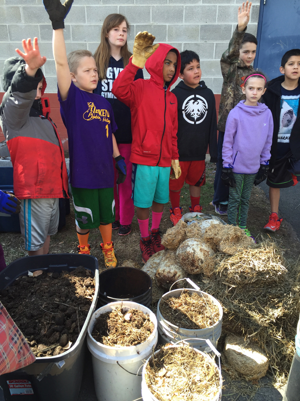 Saugerties Boys and Girls Club prepping to Sheet Mulch