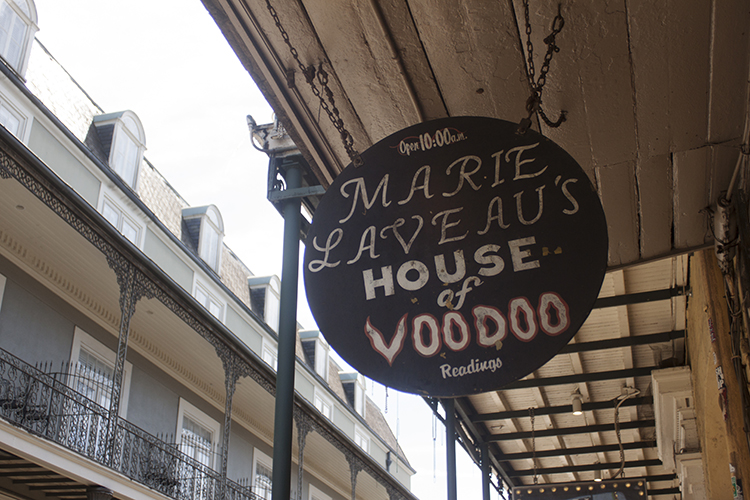 Marie Laveau'sHouse of Voodoo,739 Bourbon St - Marie Laveau is the Voodoo Queen of New Orleans, and this shop along with Reverend Zombie's Voodoo Shop (723 St Peter St) are the places to go for all manner of voodoo related items and souvenirs. They do readings if that's your sort of thing, but even if it's not they're well worth a look just for the aesthetics.