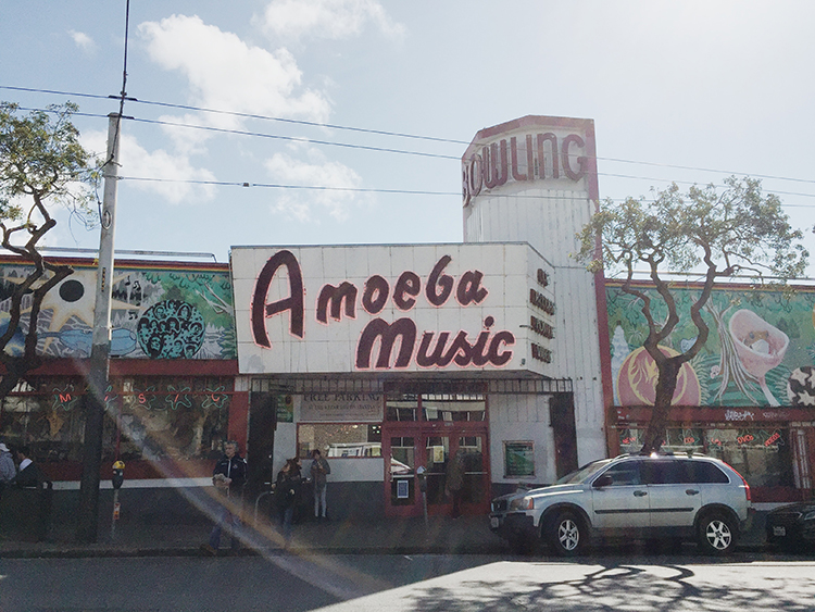 Amoeba Records,1855 Haight St - Just before you hit the park you'll find Amoeba, which is always a must if you're a fellow record collector, though even if you're not it's still worth a look around.