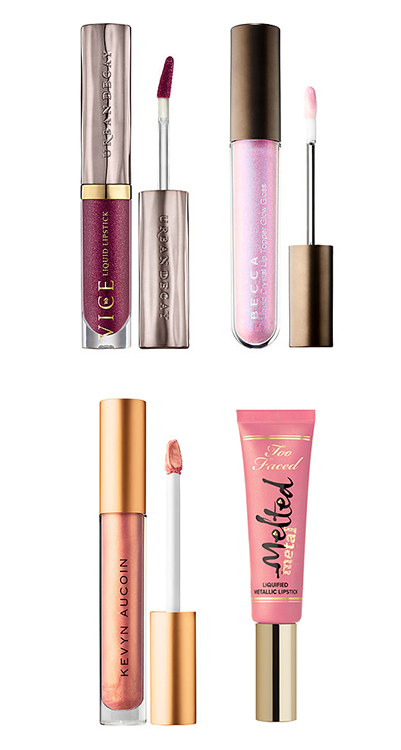 metallic lip products - I think the first metallic lip products to be launched in recent years were the Too Faced Melted Metals. I remember thinking at the time,