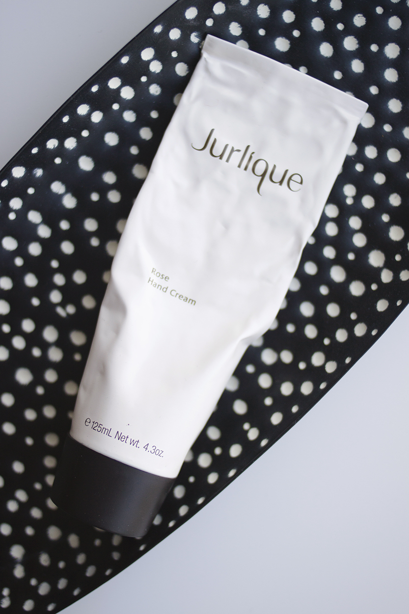 Jurlique Rose Hand Cream - I haven't mentioned the Jurlique Rose Hand Cream (AU) in a while and I feel like it's time to give it another turn in the spotlight. This has been my favourite hand cream for years now, and I want to always have a tube by my bedside.Not only is the rose scent beautiful – it's more on the sweet side rather than sharp and artificial, but it's a really rich, nourishing hand cream that's just what I need during winter (although I use it all year round).It's not really a handbag staple for me because it's quite a heavy formula and can take a few minutes to sink in, but it's perfect for night time and it's one of those products that's a perfect balance of luxury and functionality - it both works and feels beautiful at the same time, and that's what makes it my favourite.