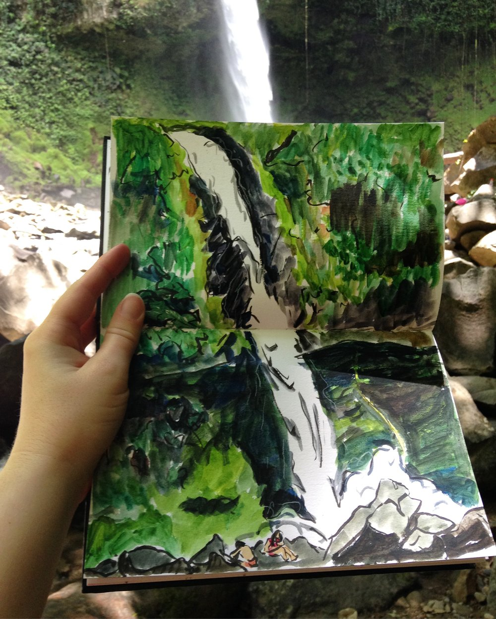 LaFortunaWaterfallsketch