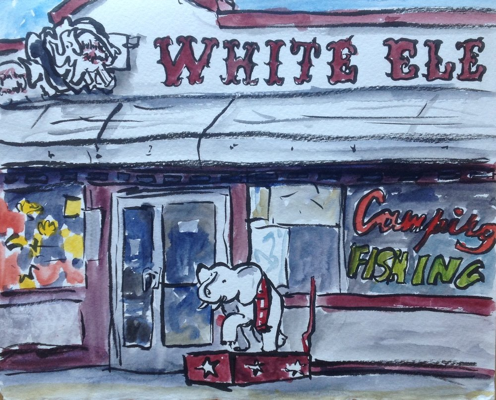 WhiteElephantOutsideSketch1