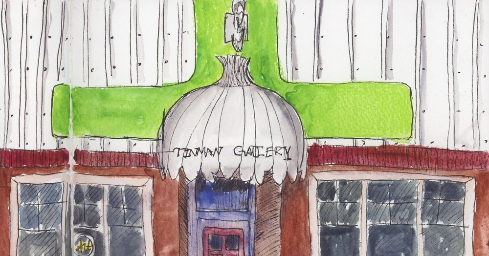 Here's a favorite haunt of mine in the Garland Neighborhood. At one time, it was the Tinman Gallery, a combined bookstore and gallery. Nowadays it houses the Spokane Art School and has frequent shows of local art. The current show is of Maya Jewell Zeller's poetry, illustrated by Carrie DeBaker. Stop by sometime and take a look!