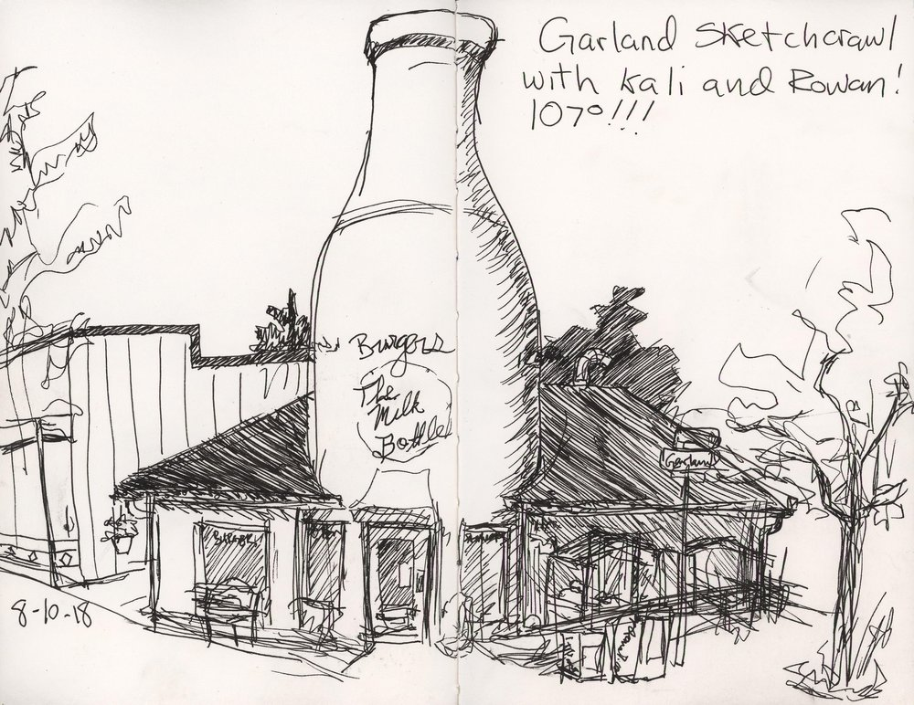 I've painted and drawn the Milk Bottle many times, but it is always a delight!