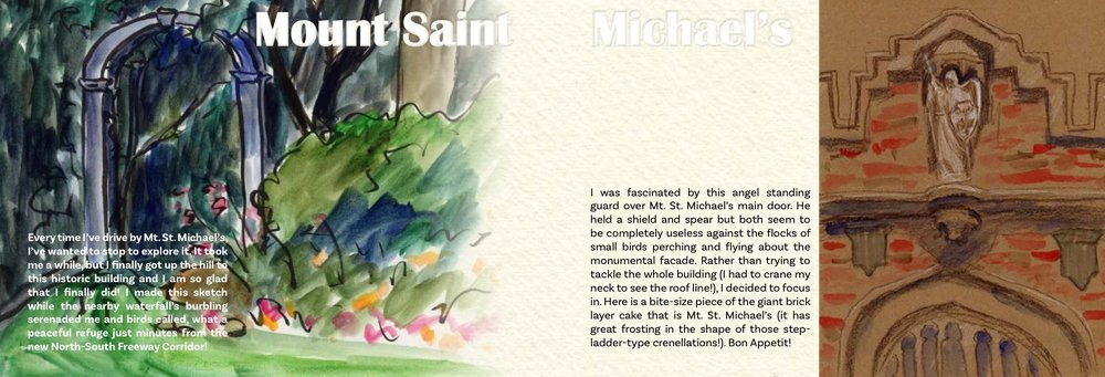 Mt. St. Michael's Book Spreads