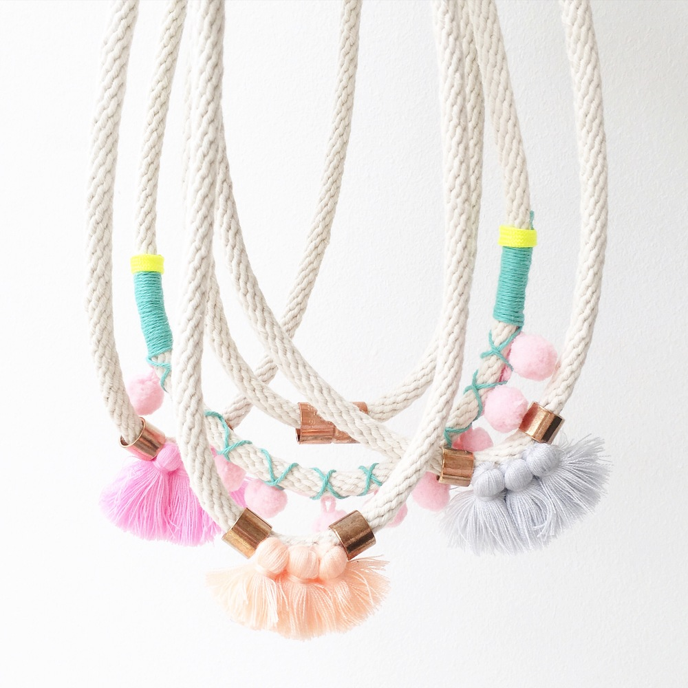 THE TASSEL NECKLACE. A FAVOURITE OF OURS FROM MAYPOLE DESIGN.