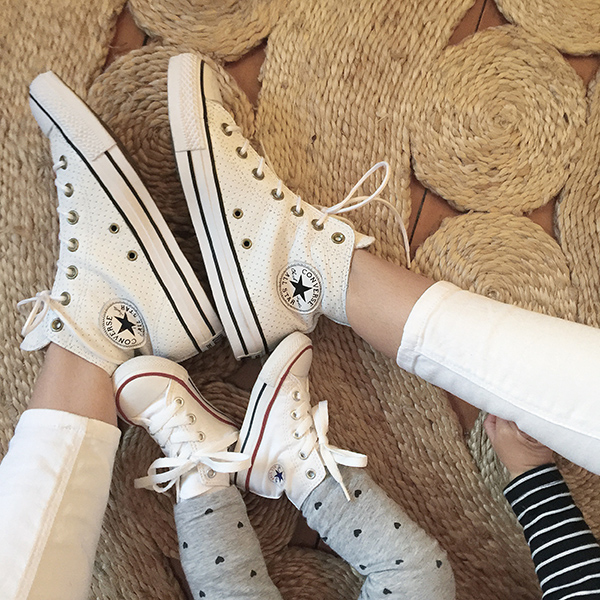 Twinning with my little love in matchy matchy converse. Mine are from  ASOS  and Marlowe's are from  Tiny Style .