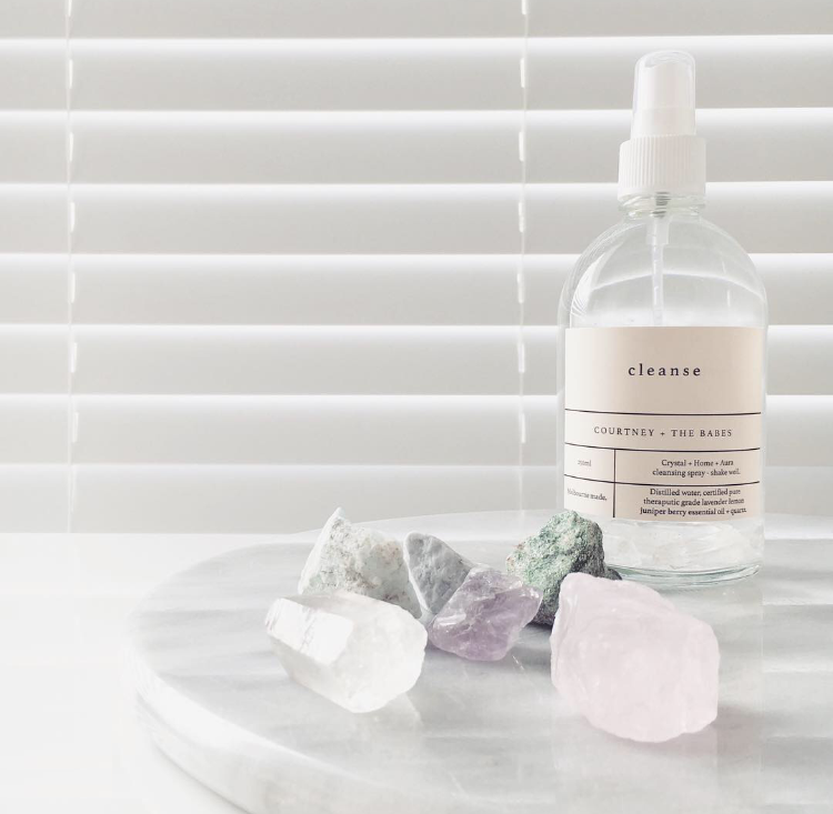 Crystals from Rock & Co. Cleanse from Courtney and The Babes.