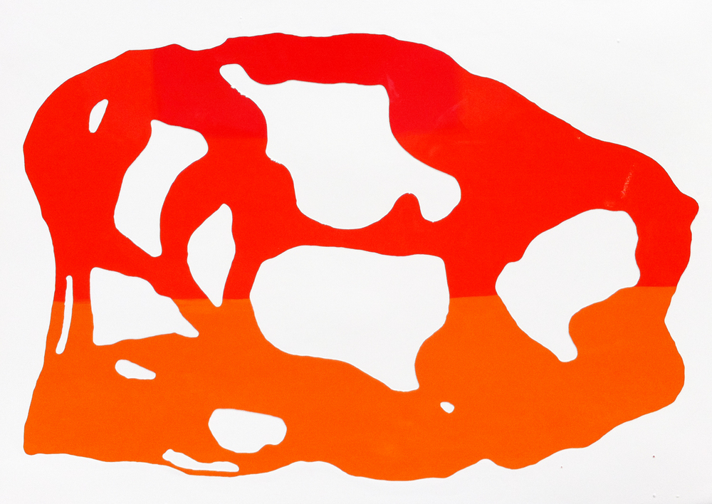 Untitled Pyrrole and Cadmium Orange 2011