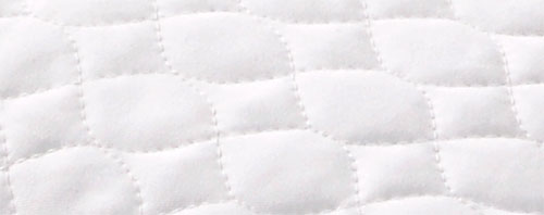 100% cotton quilted surface