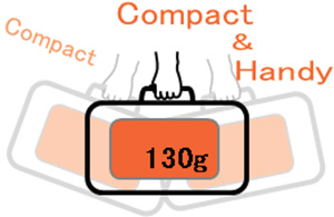 Dr. mini cushion is compact and only 130g weight