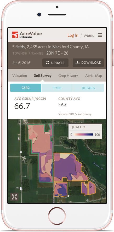AcreValue: Mobile: Soil Quality