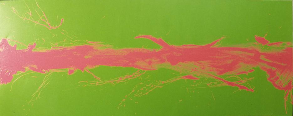 The awakening (pink on green) 1996