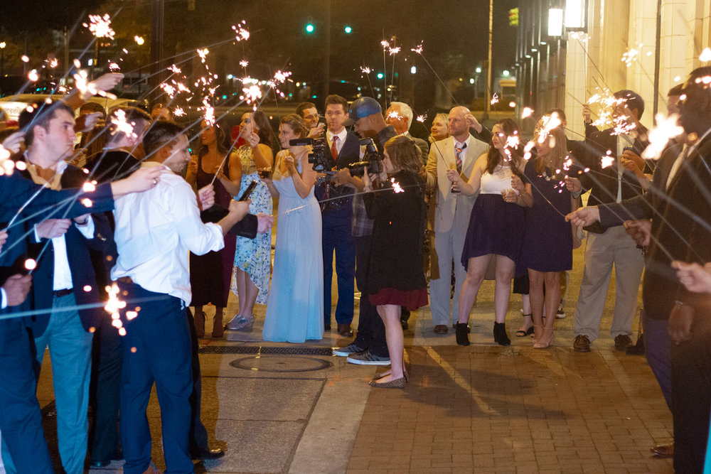 I'll risk having your guests burn my hair just to get the perfect sparkler shots!