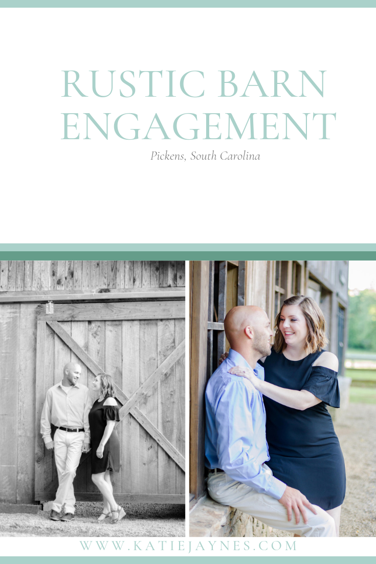 Barn engagement session, country, South carolina photographer