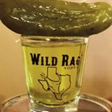MINI PICKLE SHOT  ½ shot of Wild Rag Vodka ½ shot of pickle juice