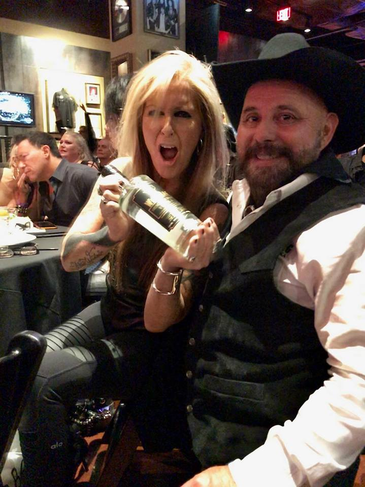 Wild Rag Mesquite Bean Vodka presented to Legendary Rock Star  Lita Ford  at the 2018 Producers Choice Honors Awards at  Hard Rock Cafe Live  in Las Vegas!