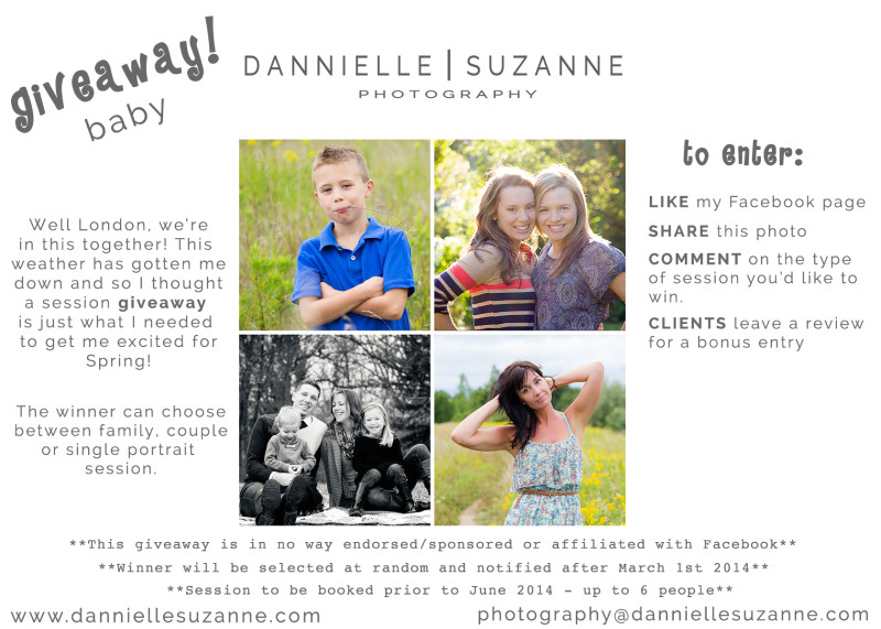spring session giveaway london ontario photographer