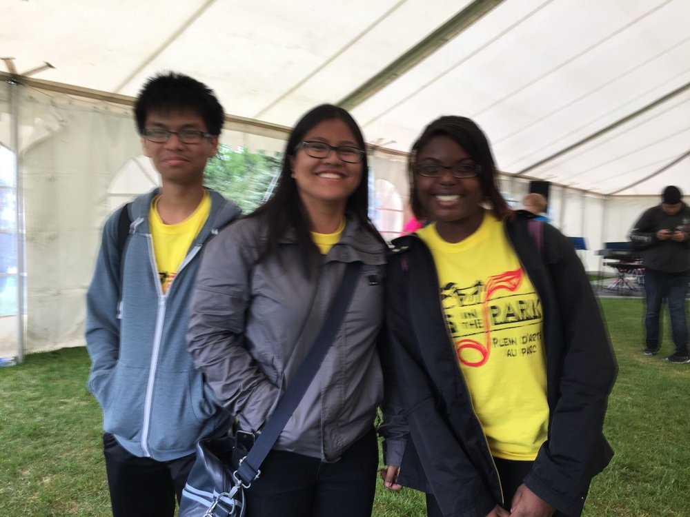 Arts in the Park 2015 Volunteers!
