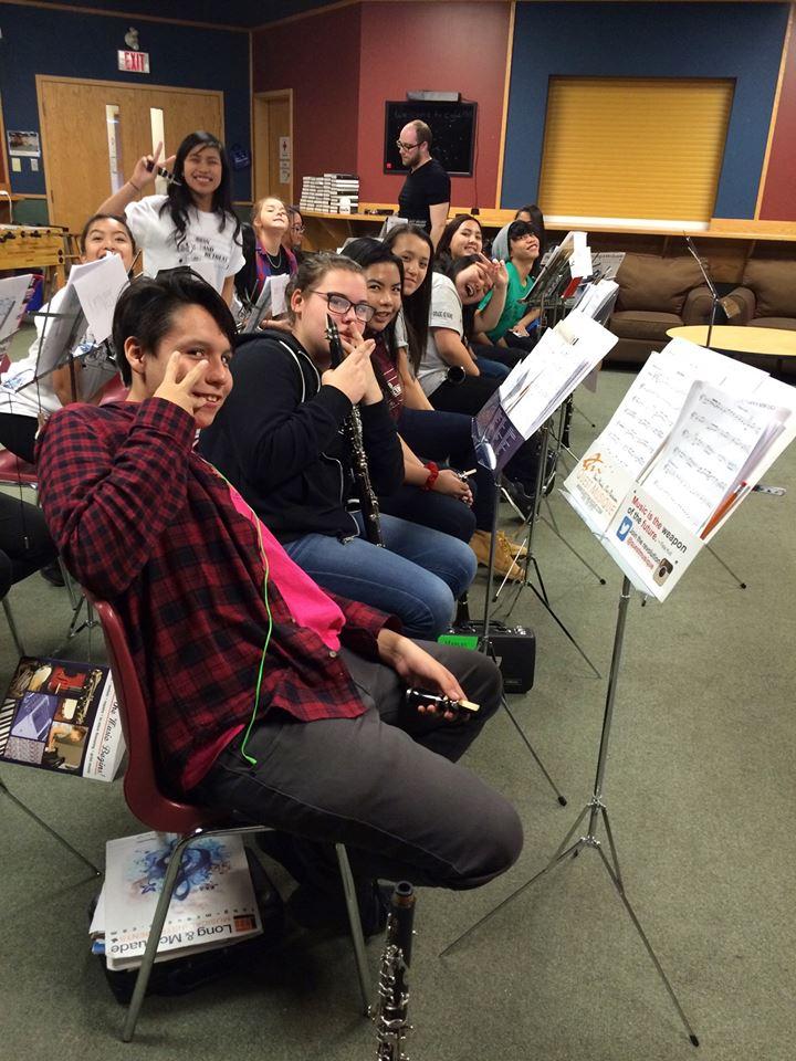 Grade 10 Urban Band Retreat 2015  We LOVE clarinets!!!! Thank you Chris Byman!!