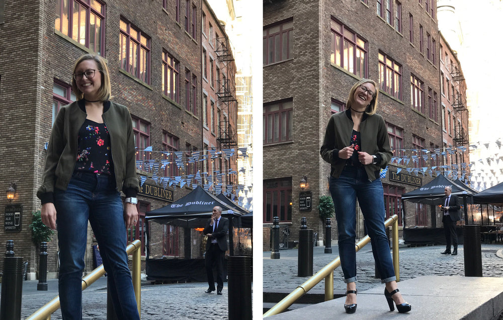 That's me laughing at the idea of attempting to walk on cobblestones in these shoes.