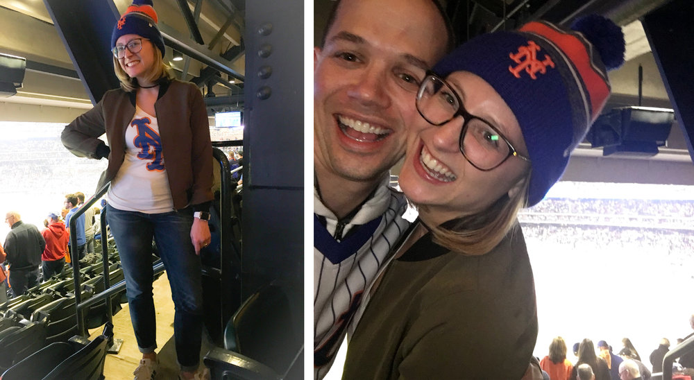 Sadly, the Mets did not win, but this jacket was the perfect top layer to my Mets ensemble.