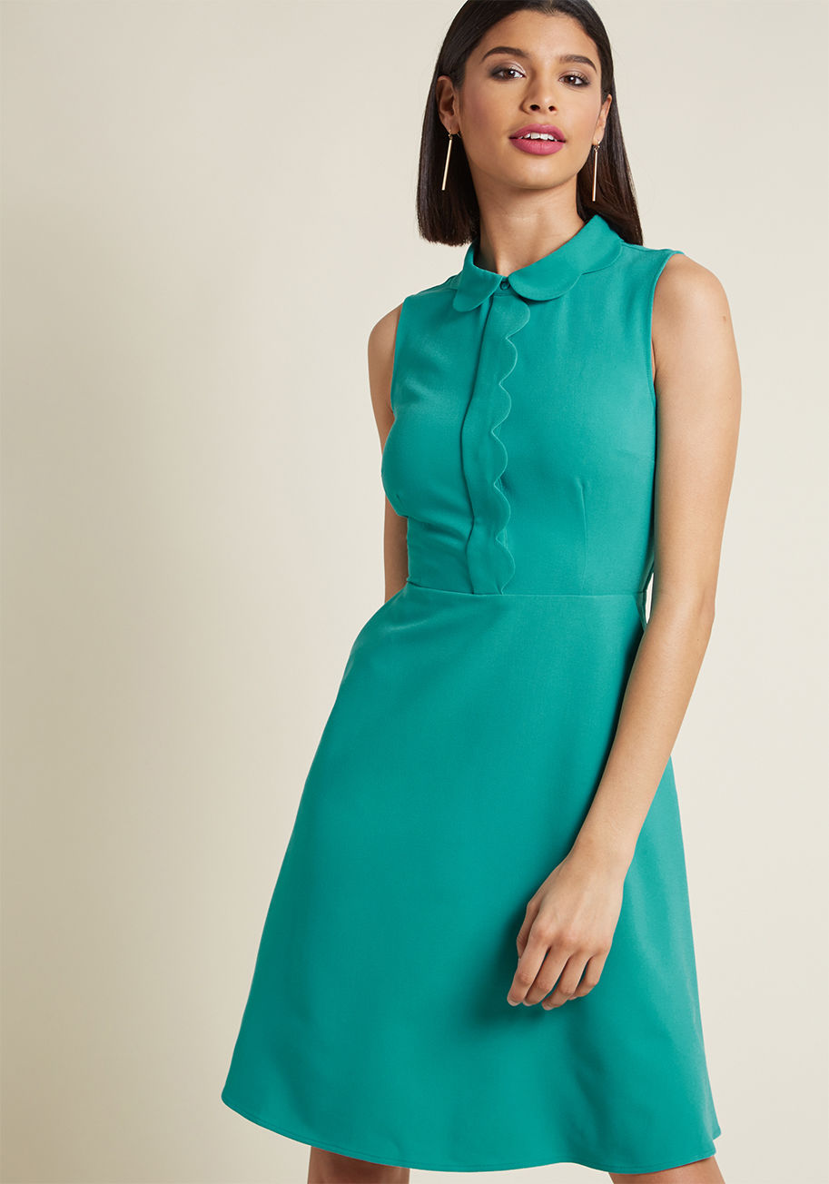 A-Line Dress in Turquoise