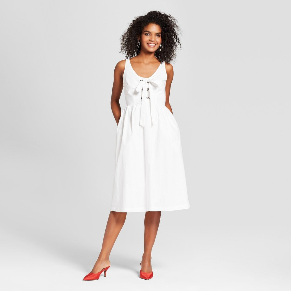 Target lace-up dress