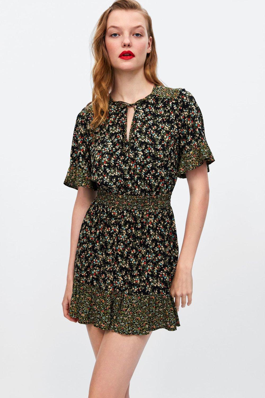 Zara ruffled sleeve