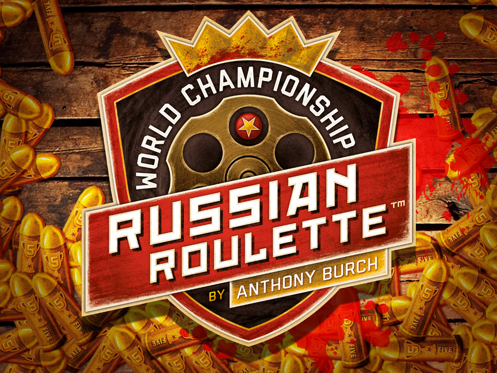 World Championship Russian Roulette! The deadliest bluffing game around. Buy now!