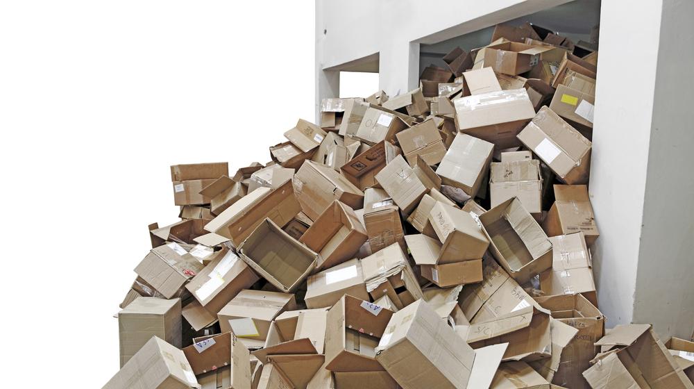 Cardboard box waste