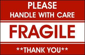 Fragile Moving Box Label