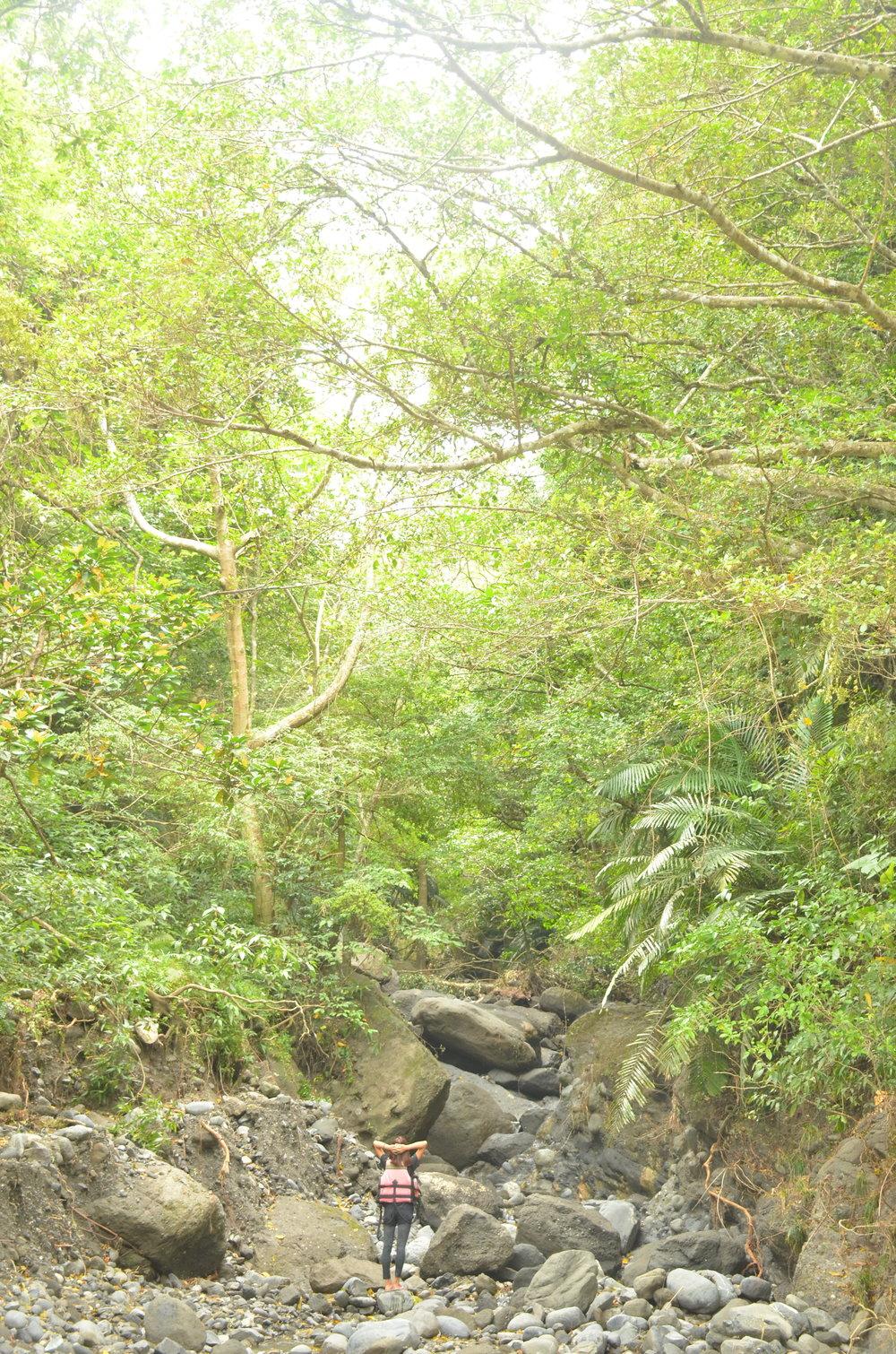 就算是這樣的一條小溪,身處其中的人類還是顯得渺小